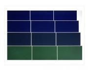 Graded Steps [green / blue], 1973, screenprint, 56 x 76 cm, edition of 30
