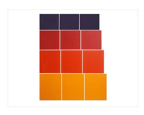 Graded Steps [orange / red / purple], 1972, screenprint, 76 x 56 cm, edition of 30