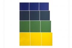 Graded Steps [yellow / green / blue], 1972, screenprint, 76 x 56 cm, edition of 30