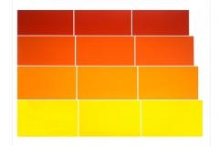Graded Steps [yellow / orange], 1973, screenprint, 56 x 76 cm, edition of 30
