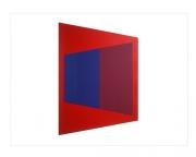 Trapezium [red / blue / purple], 1972, screenprint, 76 x 56 cm, edition of 25