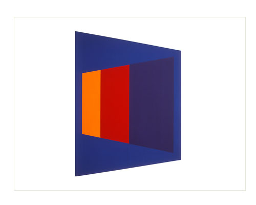 Trapezium [blue / orange / red / purple], 1972, screenprint, 76 x 56 cm, edition of 25